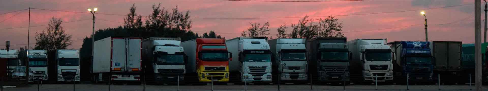 грузовики на стоянке в Липне