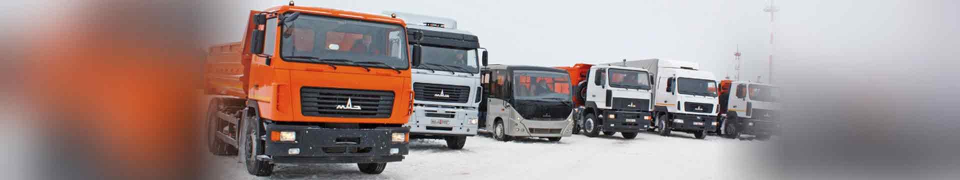 Модельный ряд грузовых автомобилей МАЗ