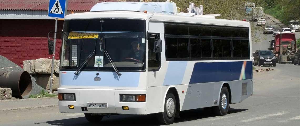 Автобус Kia Cosmos в рейсе