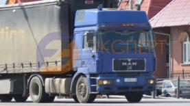 грузовой автомобиль МАН на трассе
