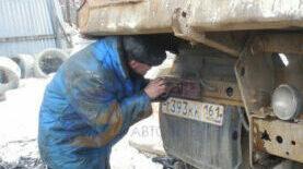 Не горят стоп-сигналы на грузовом автомобиле