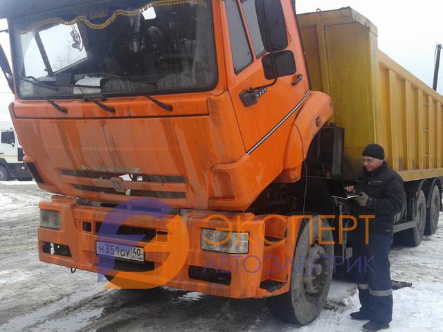 Компьютерная диагностика цепи датчика коленвала грузовика КАМАЗ