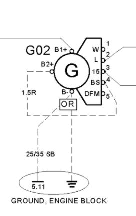 схема генератора рено